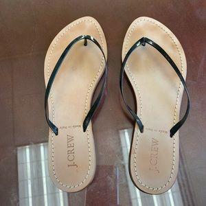 J.Crew Black Patent Leather Sandal